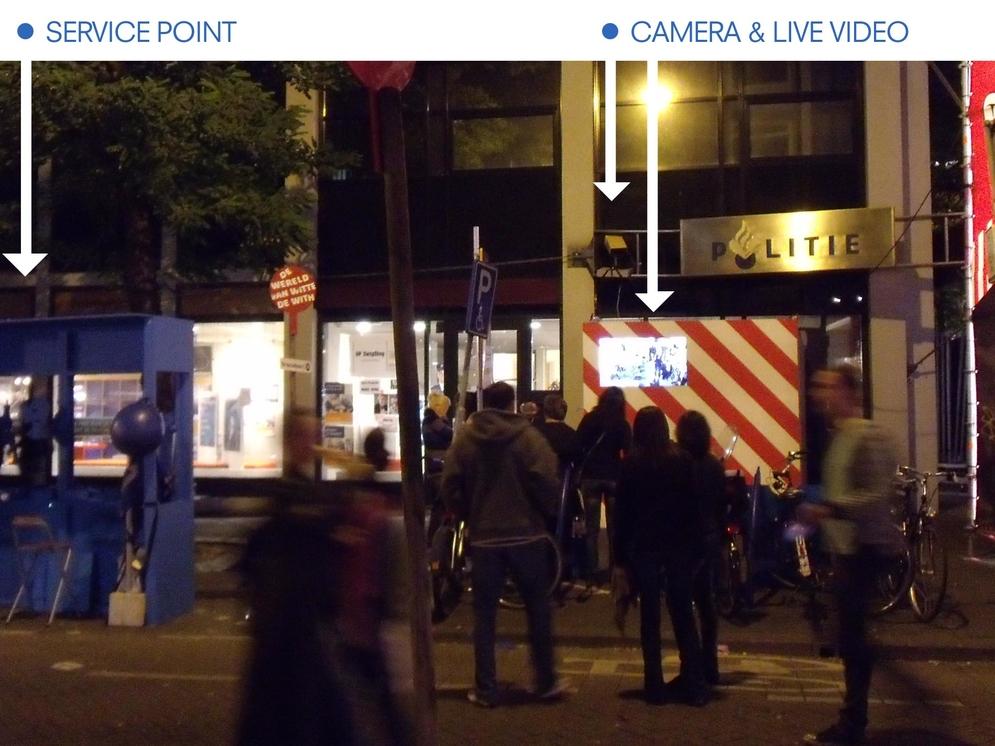 de-surveillance' service point (left) - the flawed Rotterdam