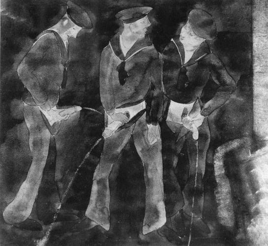 Pissing Contest Or Three Sailors Urinating Mediamatic