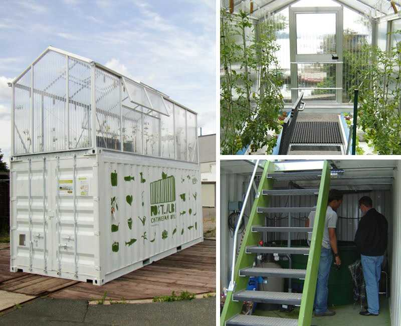 Micro farms an aquaponics system inside a container for Vivre container